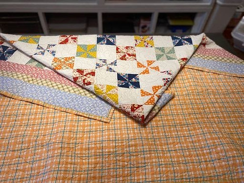 Blue & Red Quilt