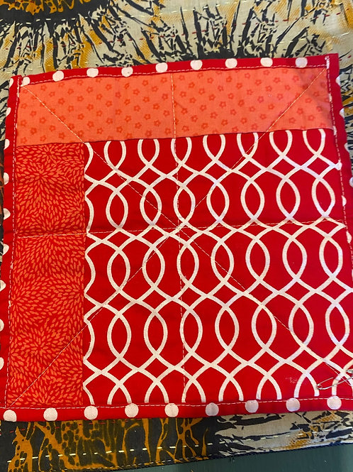 Red Quilted Mug Rug