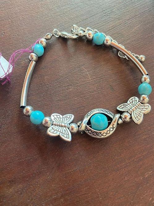 Teal Butterfly Bracelet