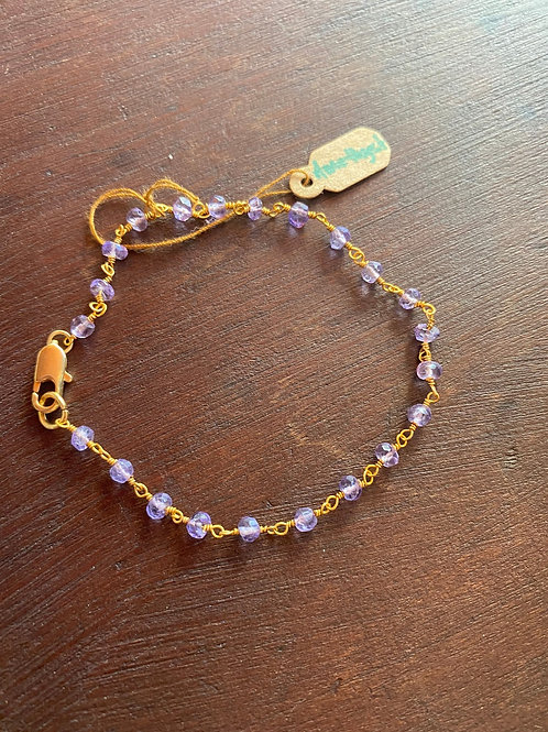 Purple and gold Bracelet