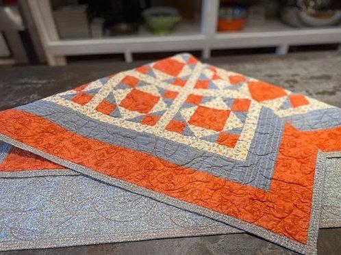 Orange & Blue Quilt