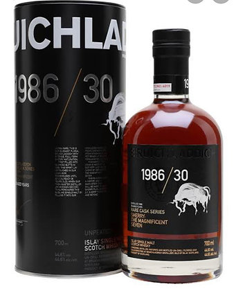 Bruichladdich 30 Year Old 1986 Rare Cask