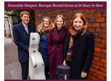 Ensemble Hesperi Residency at St Mary-le-Bow