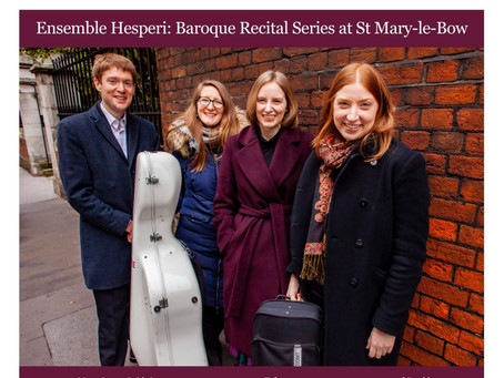 Ensemble Hesperi Residency at St Mary-le-Bow