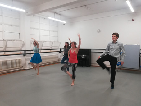 Our first dance rehearsals for 'The Pheasant's Eye' showcase on 9th June...