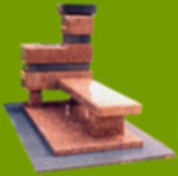 Columbarium personnel    Granit Rose de la clarté et Lanhelin
