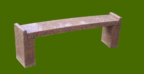 Banc de recueillement;Granit Rose de la Clarté;