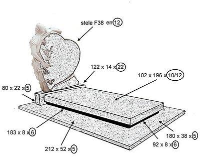 Création et pose  de monuments granit dans les environs  de Sarlat / Montignac en Dordogne (24)