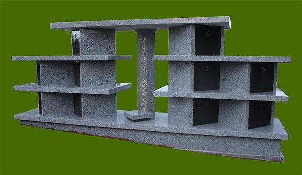 Columbarium communal (pour espace réduit);Granit St Salvy et noir fin;10 cases de 4 urnes