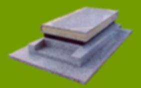 """Modèle 300  Granit Tarn st Salvy  Hauteur 20 cm  Coffret noir en Zimbabwé  Tombale """"Livre"""""""