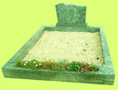 Entourage classique avec jardinière  Granit Vert Tropical