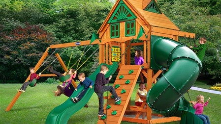 Horizon w/ Tube Slide w/ Treehouse Add-On $2,429