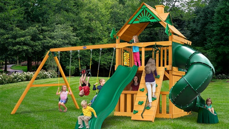 Horizon Clubhouse w/ Tube Slide w/ Wood Roof $2,499