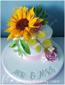 Wedding cake set up to Barn Brasserie