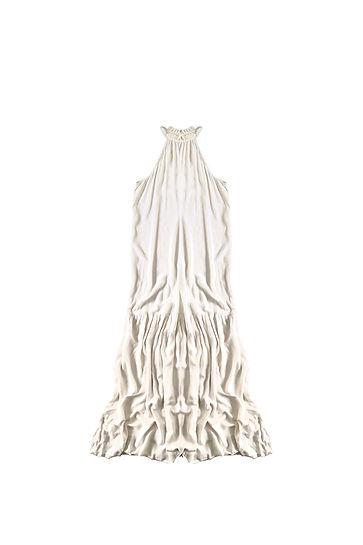 Vestido blanco cuello