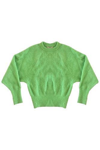 Chaleco angora verde