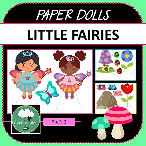 Paper Dolls LITTLE FAIRIES Imaginative Play