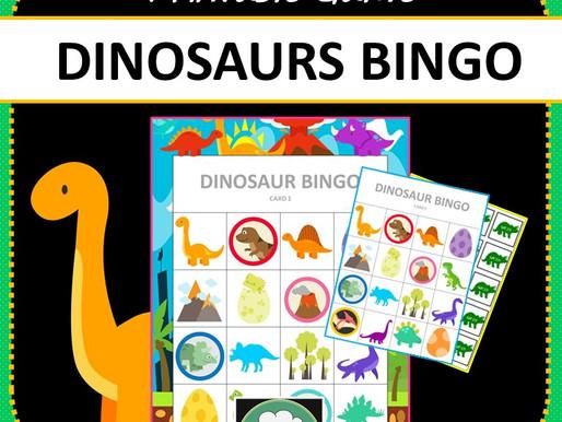 Dinosaur Games & Activities for K-2