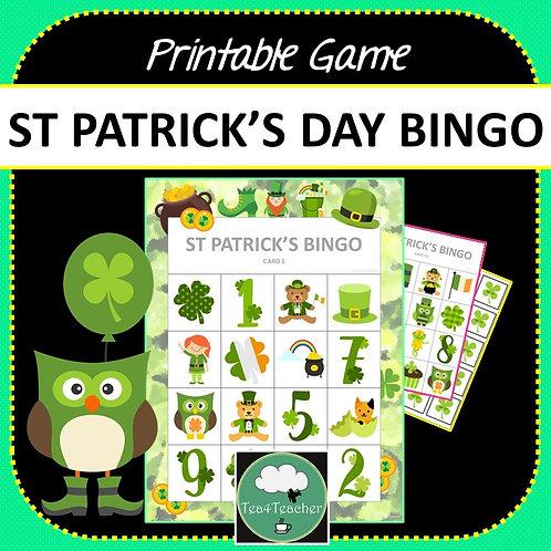 St Patrick's Day Bingo Game Two Designs + PDF + Digital Options
