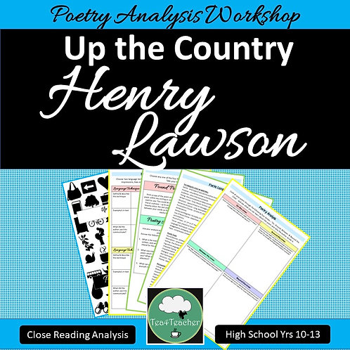 Poetry Close Reading UP THE COUNTRY Henry Lawson