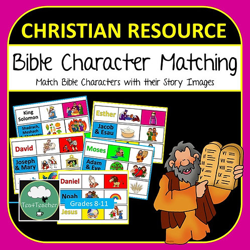 Bible Character Matching Game