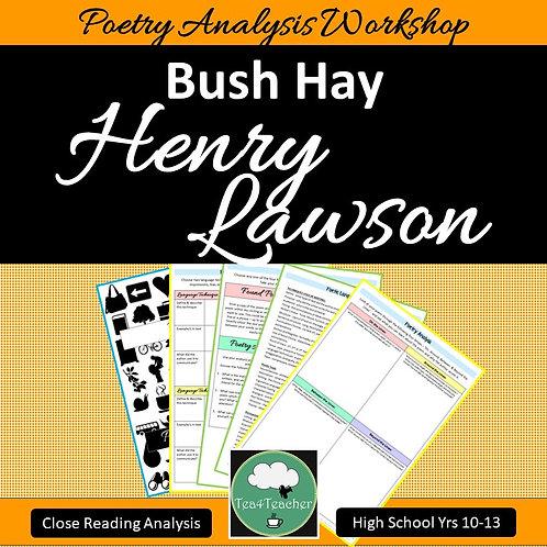 Poetry Close Reading BUSH HAY Henry Lawson