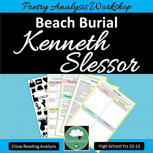 Kenneth Slessor BEACH BURIAL Poetry Analysis Close Reading Workshop