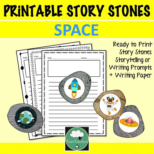 Space STORY STONES Storytelling Writing Prompts