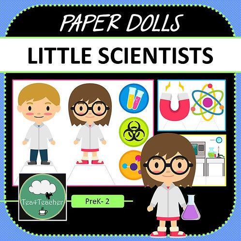 Paper Dolls CRAZY SCIENTISTS Imaginative Play