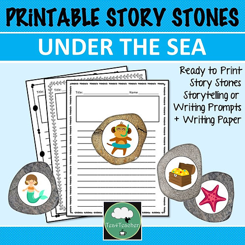 Under the Sea STORY STONES Storytelling Writing Prompts