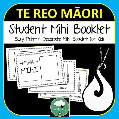 Te Reo Māori MIHI BOOKLET Printable Personal Mihi Book