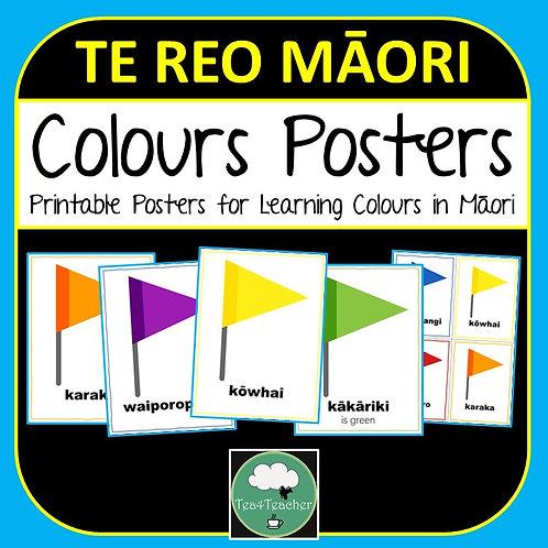 Te reo Māori COLOURS Posters Flags