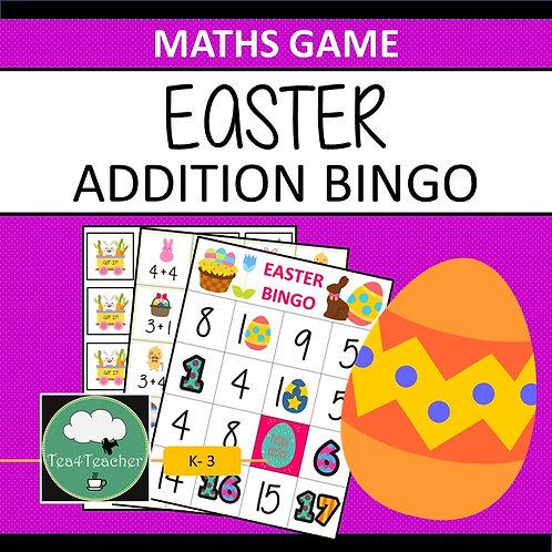 Easter Bingo Game ADDITION Game