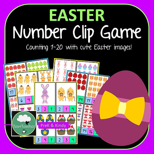 Easter Counting Clip Cards Game
