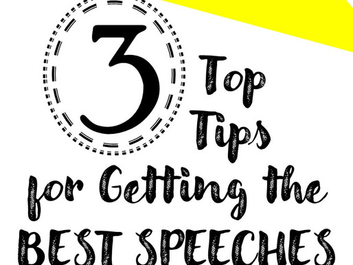 3 Top Tips for Getting the Best Speeches Out of Your Students.