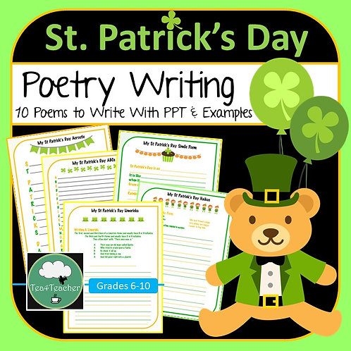 St Patrick's Day Poetry Writing Pack