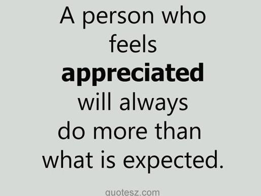 Wise Words. Show Appreciation.