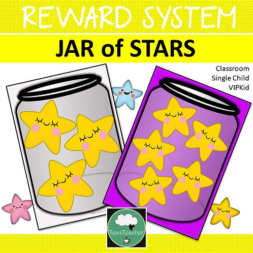 Reward System JAR of STARS Whole Class Single Student Token Board