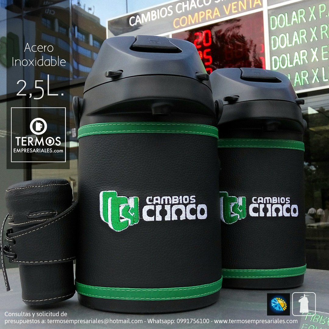 Acero inoxidable 2,5L.