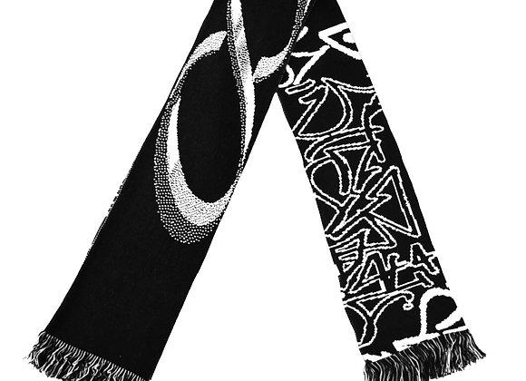 STERIL GRAPHIC LOGO SCARF #2 BLACK/WHITE