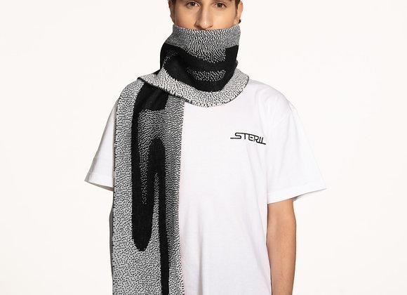 STERIL GRAPHIC LOGO SCARF BLACK/WHITE