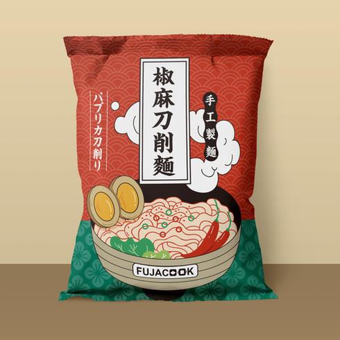 FUJACOOK 椒麻刀削麵 包裝設計
