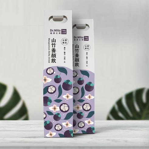 山竹養生液 彩盒包裝設計
