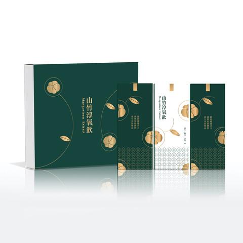 山竹 純氧飲 包裝設計