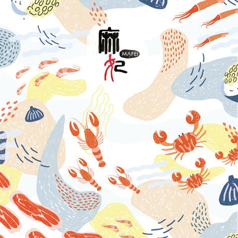 麻妃 背板插畫設計