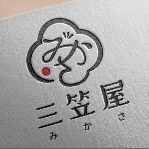 三笠屋 商標設計