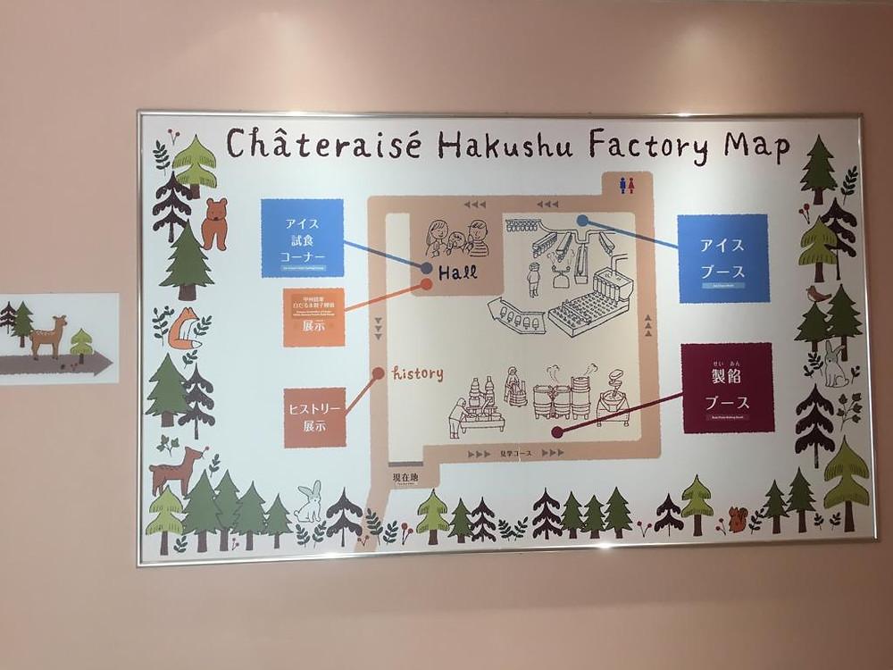 Map Châteraisé Factory Tour
