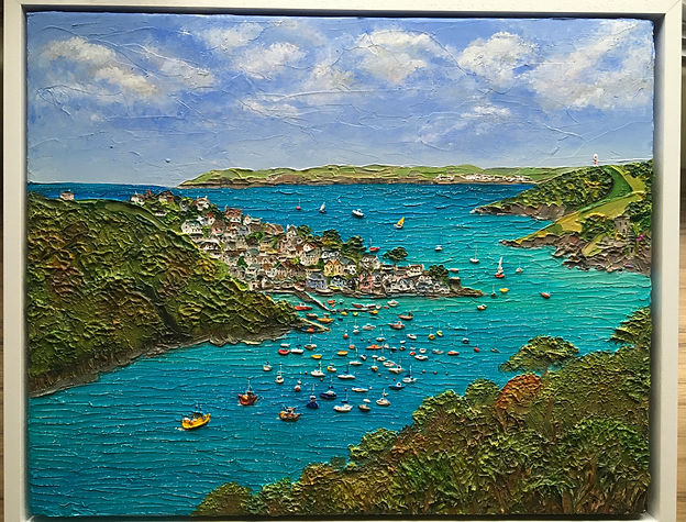 Polruan from the River Fowey