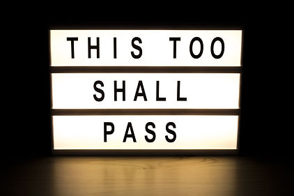 This too shall pass light box sign board