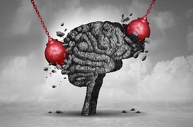 Headache pain and pounding painful migra